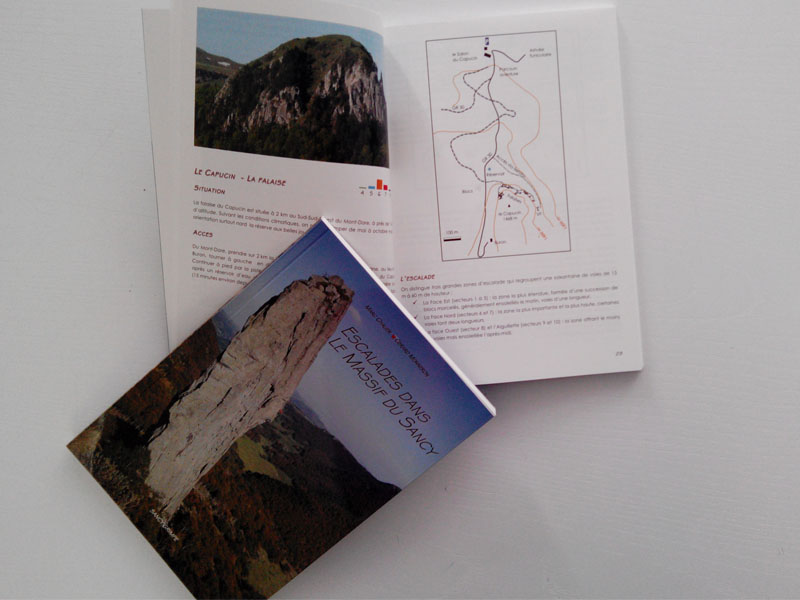 Topo-guide escalade dans le Sancy